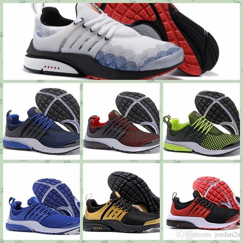 Nike Pristo Prestos Hot prestos Fly Ultra Olympic BR QS Hombres Mujeres Zapatos para correr Azul marino Negro Moda Casual prestoss Hombres Entrenadores Zapatillas deportivas 40-45
