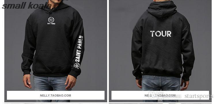 Compre Hombres Sudadera Con Capucha De Hip Hop Para Chándal Hombre Grande  Kanye West Tour Temporada 3 Ropa Camiseta Saint Pablo Sudaderas   344892 A   49.99 ... 6dac84a5ad3