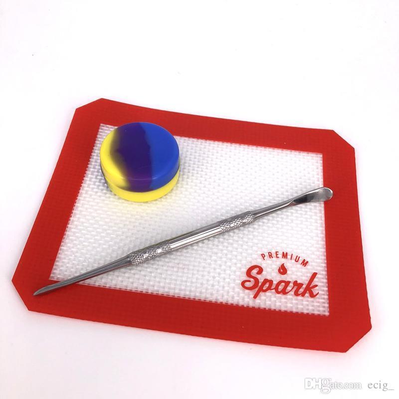 Antihaft-Silikon-Nahrungsmittelgrad-Silikon-Backen-Matte-Auflage mit Silikon-Behälter-Tupfewerkzeug-Satz Bakeware-Matte Freies Verschiffen