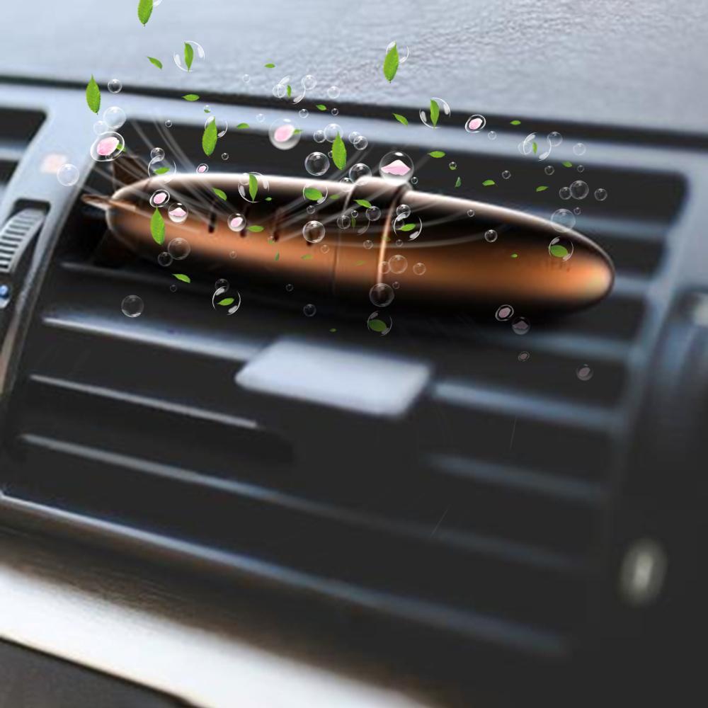 Air Freshener Veículo purificador de ar para Perfume Car Car desodorante Aroma Difusor de ventilação com 3 varas do aroma para casa de banho