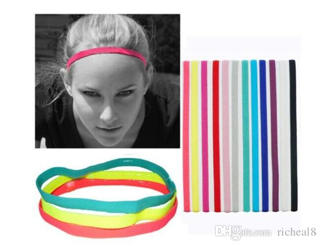 2020 Elastic Rubber Hair Band Sports Headband Fashion Baseball