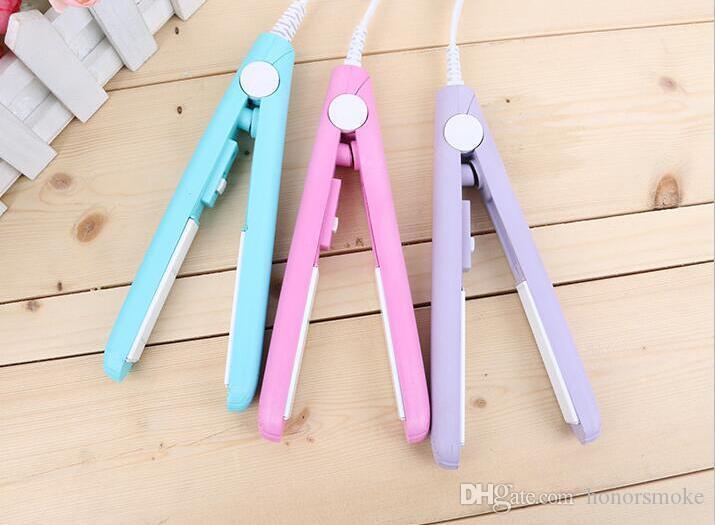 Mini défrisage Irons pratique Portable Lisseur céramique Bigoudi fer perm droite Curl DOUBLE 4 couleurs Choisissez la vente