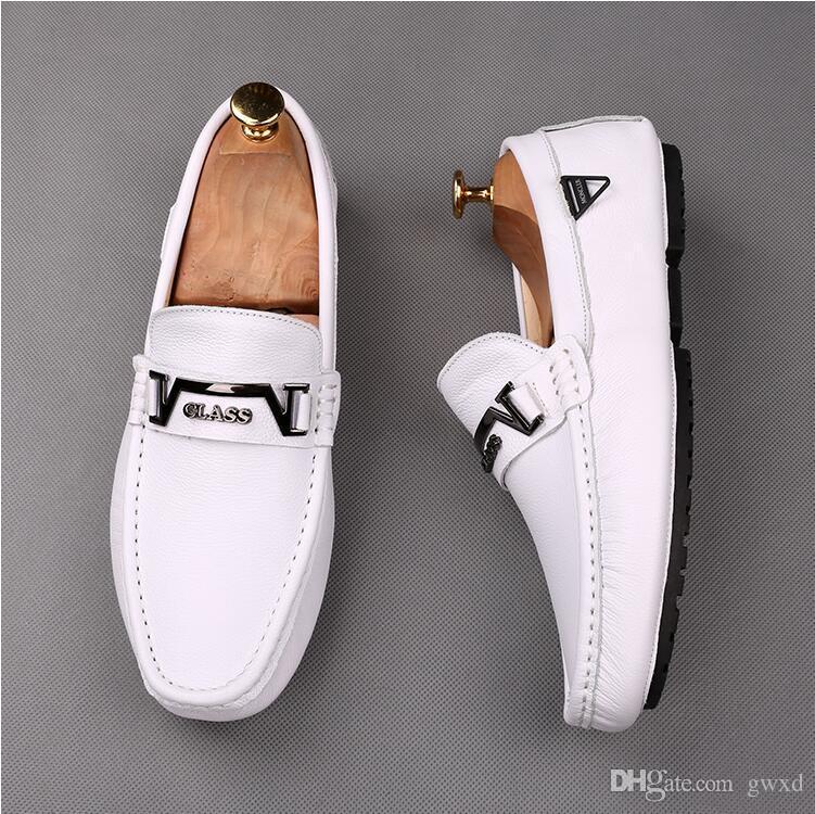 Italiano de Negócios Formal de Couro De Patente Dos Homens Mocassins Apontou Toe Homem Vestido Sapatos De Luxo Oxfords Festa de Casamento desgaste Sapatos W420