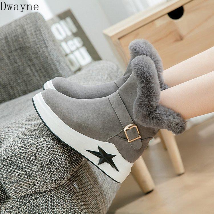 Снег ботинки женщин 2020 зима новый корейской версии толстой шерсти дно не скользит все в один теплый плюс бархатные сапоги