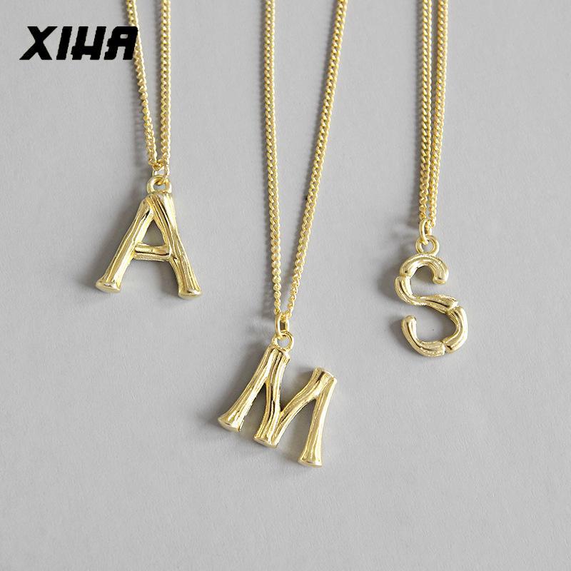 Ожерелье оптовой Real 925 стерлингового серебра Подвески для женщин A M S Буквица ожерелья персонализированных ювелирных изделий рождественских подарков