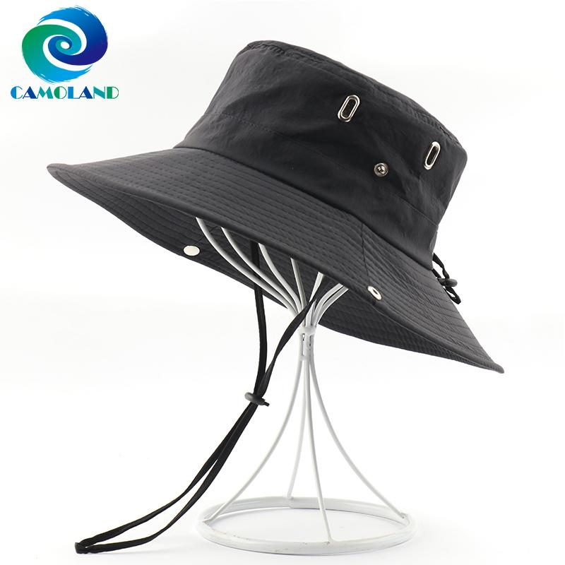 CAMOLAND Waterproof Boonie Hat Women Men Breathable Mesh Bucket Hat Outdoor UV Protection Hiking Fishing Caps Male Sun Hats