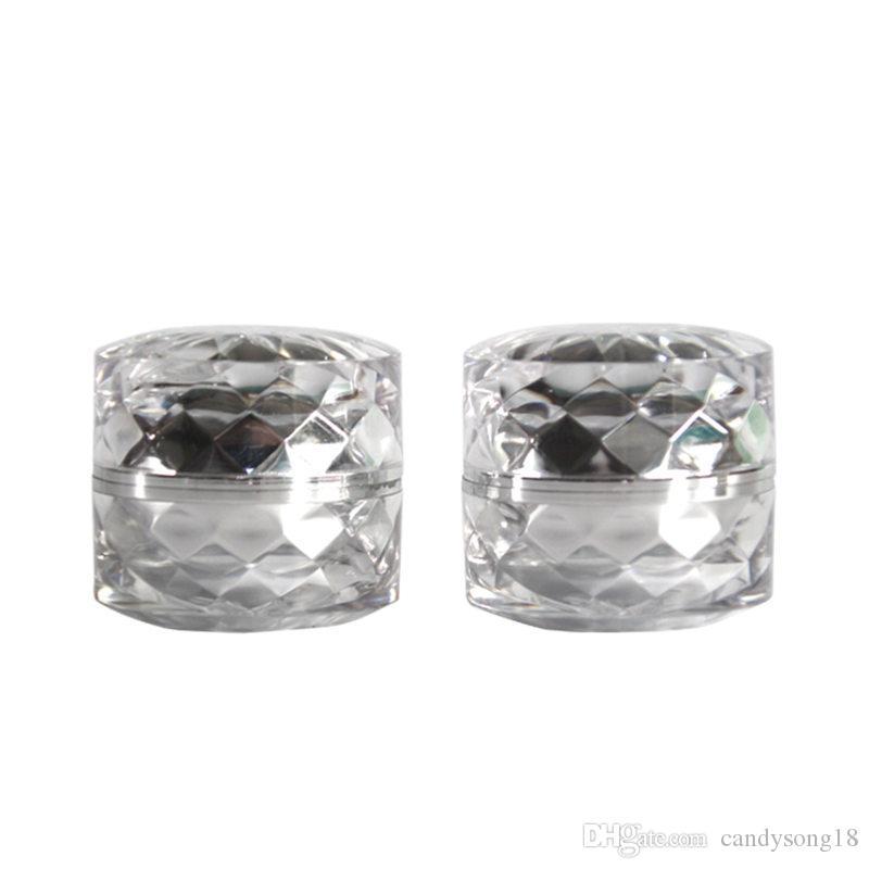 5G الذهب / الفضة مشرق الماس الاكريليك جرة كريم ، غسول قناع زجاجات إعادة الملء ، التعبئة والتغليف ومستحضرات التجميل جرة التجميل F3355