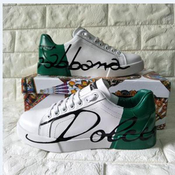 2020g new men and women exquisite hand-painted lace-up casual sports shoes, high-quality fashion wild couple party shoes, no box 8u