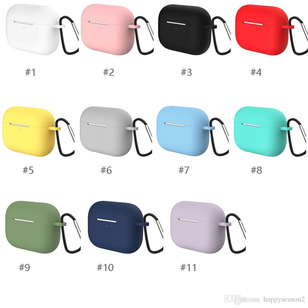 Copertura TPU cassa del silicone per AirPods Pro Luxury per Apple Wireless Bluetooth auricolare con gancio
