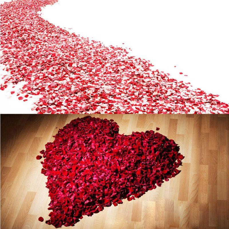 500g/Bag Colorful Artificial Rose Petals Wedding Petalas Colorful Silk Flower Accessories Wedding Rose