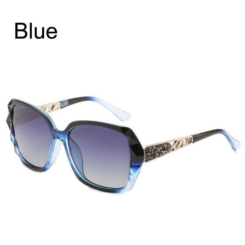 Classic Polarized Women Sunglasses Sparkling Composite Frame UV400 Glasses