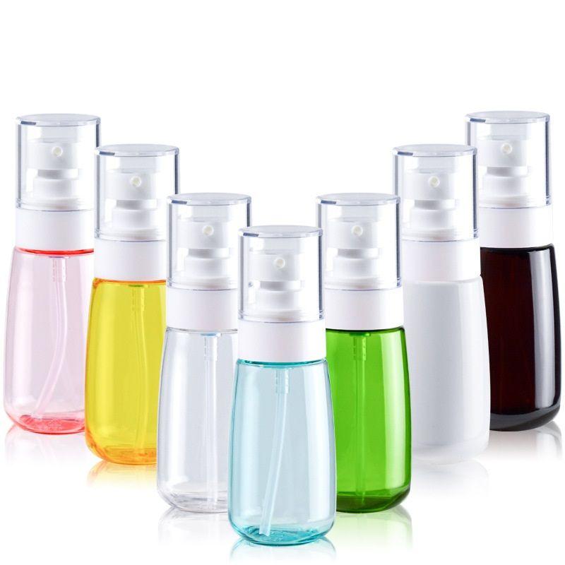 30ML / 60ML / 80ML / 100ML Vaporiser Bouteilles en plastique Voyage Mise en bouteille alcool liquide Mise en bouteille désinfectant pour les mains Gel douche Distributeur