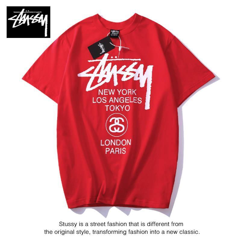 stussys gelgit marka kısa tişört pamuk spor yuvarlak boyun tişört moda ince tişört baskı erkek tasarımcı Tişörtlü lüks mektup kollu