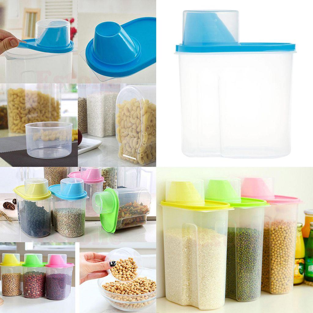 Cucina Cereali Pasta Distributore Food Store Storage Box Contenitori Bins NUOVO