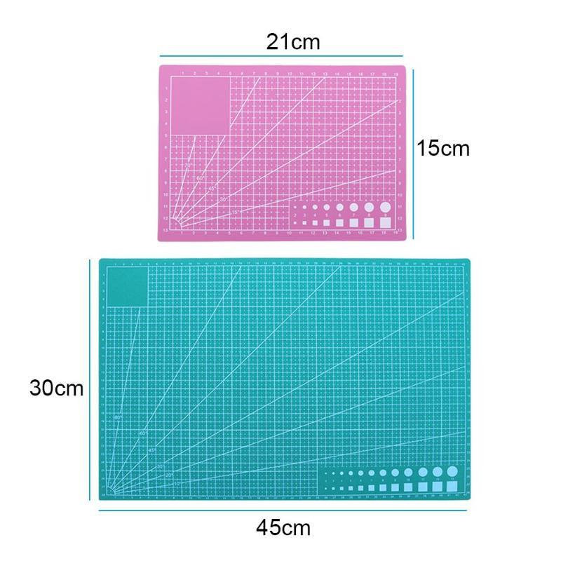 PVC sewing cutting mats Double-sided Plate design engraving cutting board mat handmade Patchwork Tools A3/A5 Diy Accessory Cut