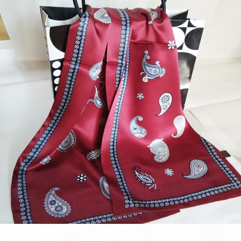 La nuova annata 100% puro 12MM spessa sciarpa di seta di modo degli uomini di Paisley Fiori modello di stampa a doppio strato in raso di seta foulard # 4052