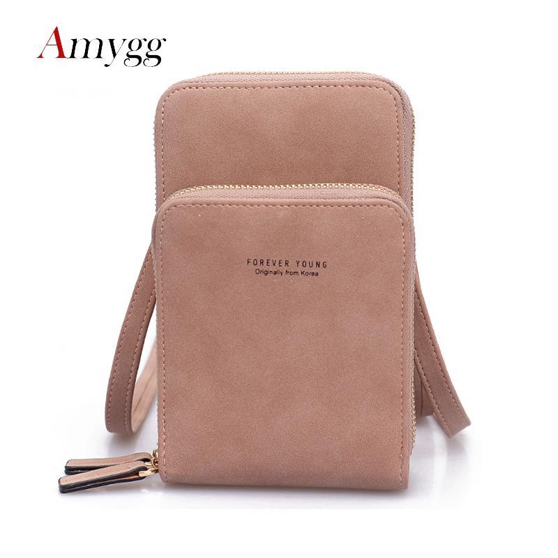 2019women's Long Design Purse Multifunction Phone Wallet Long Women Mini Shoulder Bags Young Girl Purse Brand Crossbody Bags Sac Y190701