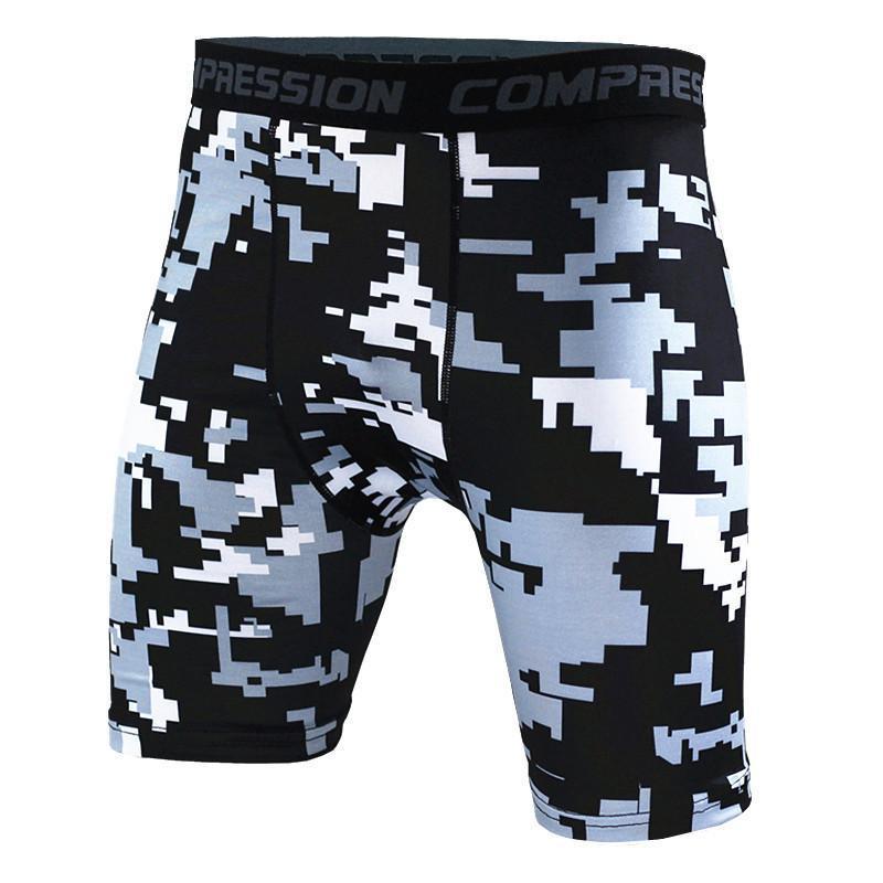 Short Fitness Tight Séchage rapide Courir Vélo Natation Hommes Shorts Sports Imprimer Camouflage