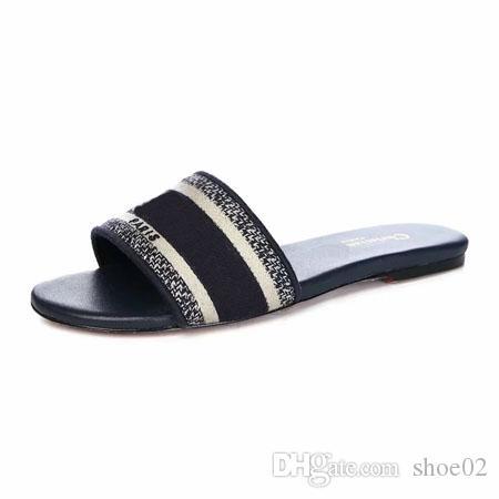 2019 Donna Pantofole Falt scarpa Sandali Beach scorrere migliore qualità dei pistoni di modo Scuffs Pantofole Scarpe casual per la signora di shoe02 A04