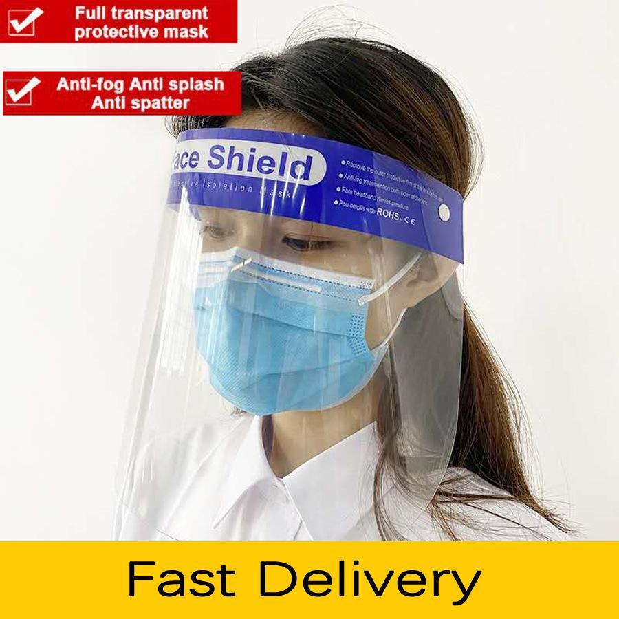 Анфас маски анти-капель туман пыль лицевой щиток защитная крышка ПЭТ прозрачное лицо глаза протектор защитная маска регулируемая