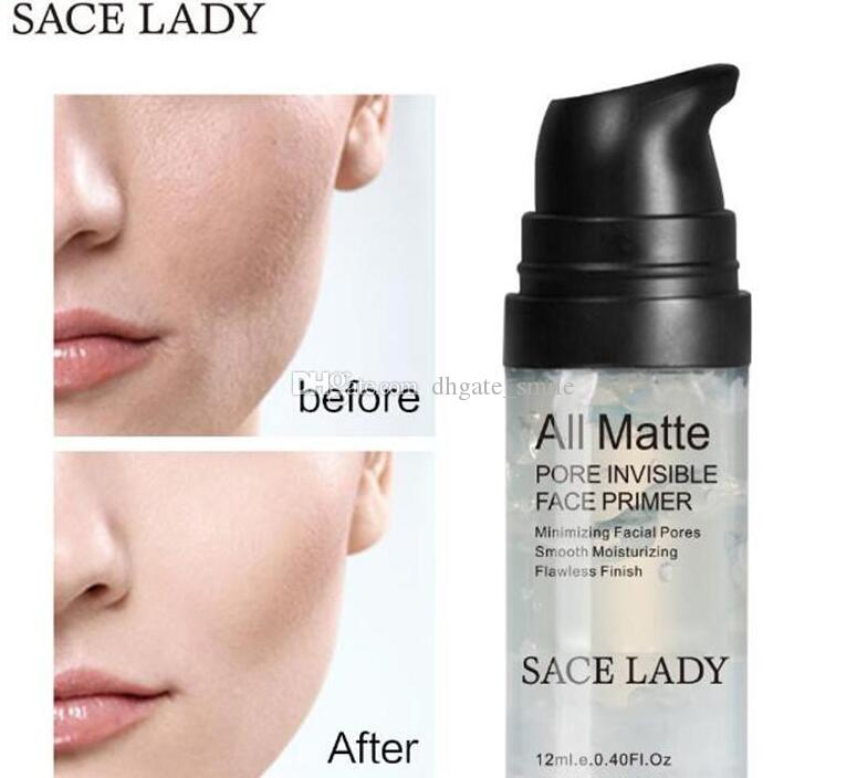 دروبشيبينغ 2018 SACE LADY المسام غير مرئية وجه التمهيدي ماتي مؤسسة التمهيدي الحد الأدنى التمهيدي النفط السيطرة على الوجه ماكياج 12ML