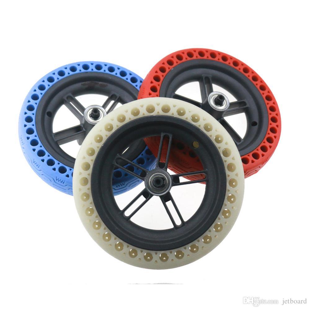 밤 발광 형광 솔리드 벌집 휠 타이어 타이어 키트 샤오 미 Mijia M365 / M187 / PRO 스쿠터