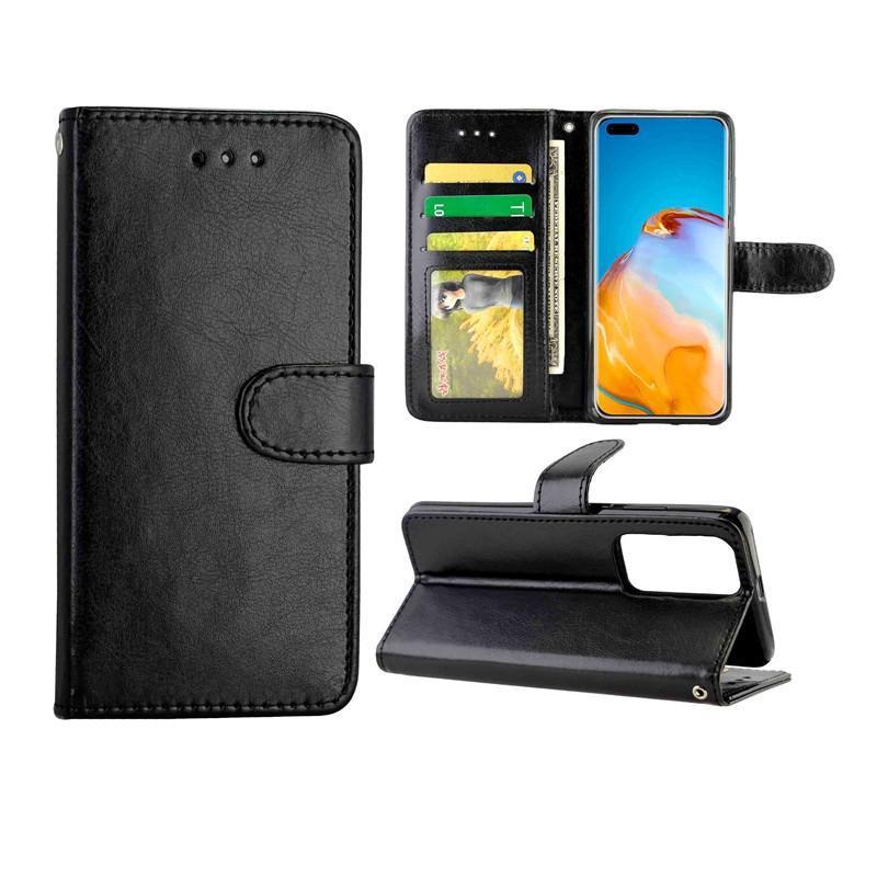 Per Huawei Custodia protettiva flip orizzontale P40 Pro Leather Crazy Horse Texture con il supporto di carta Slot Portafoglio Photo Frame