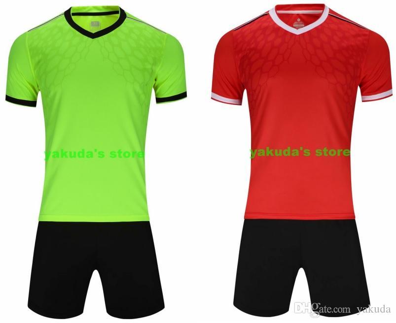 Şort giyim Üniformalar ile Top 2019 özel forması Setleri Spor özel giyim Futbol popüler Tasarım Kendi customed top gömlek kitleri