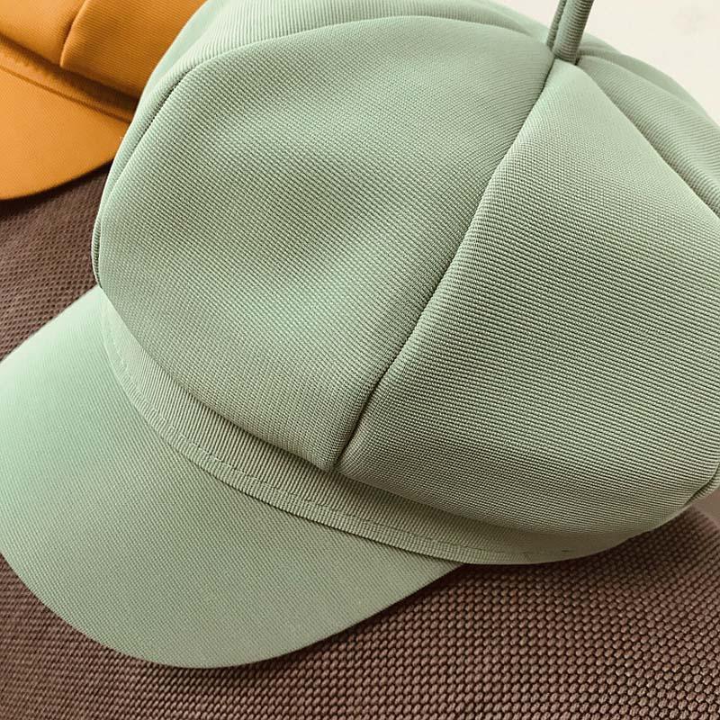 Фибоначчи 2020 Новая весна лето женщин восьмиугольная Hat Cap Высокое качество Женский Урожай Художник Художник Hat Берет