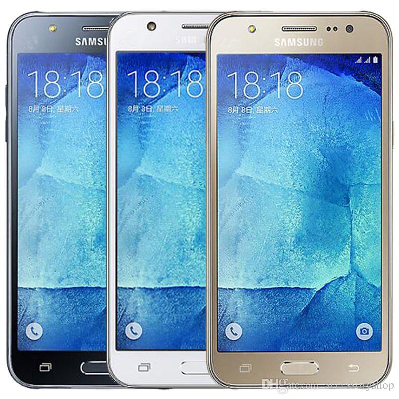 Odnowiony Oryginalny Samsung Galaxy J5 J500F Dual SIM 5.0 CAL Ekran LCD Quad Core 1.5 GB RAM 16 GB ROM 13MP 4G LTE Odblokowany telefon DHL 5 sztuk