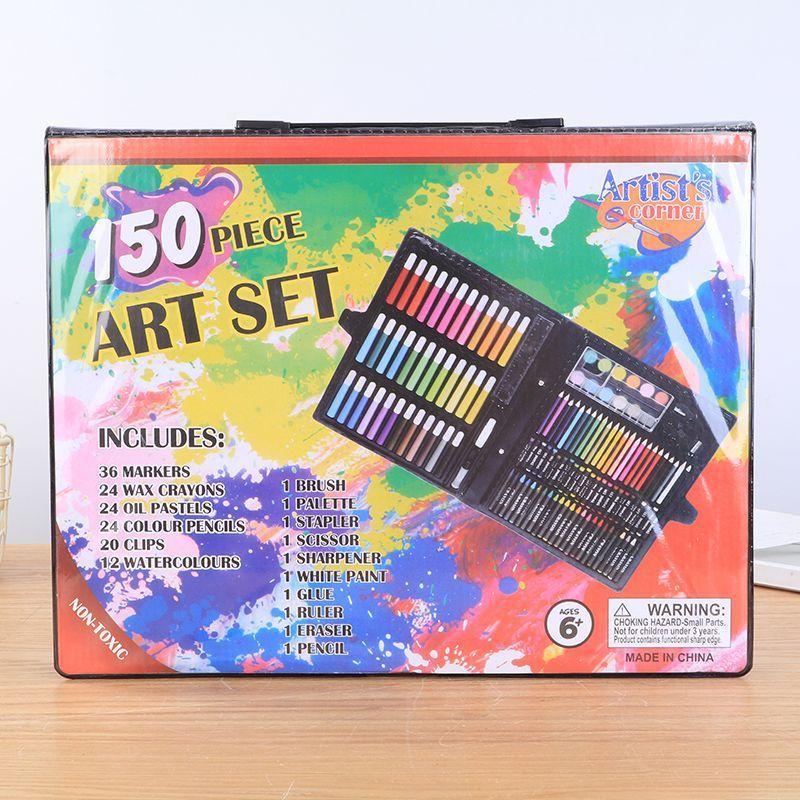I bambini della pittura di pennello Penne bambini penne 150 set di pittura ad acquerello pennello penna arte regalo box set di cancelleria fornitura scuola di scrittura