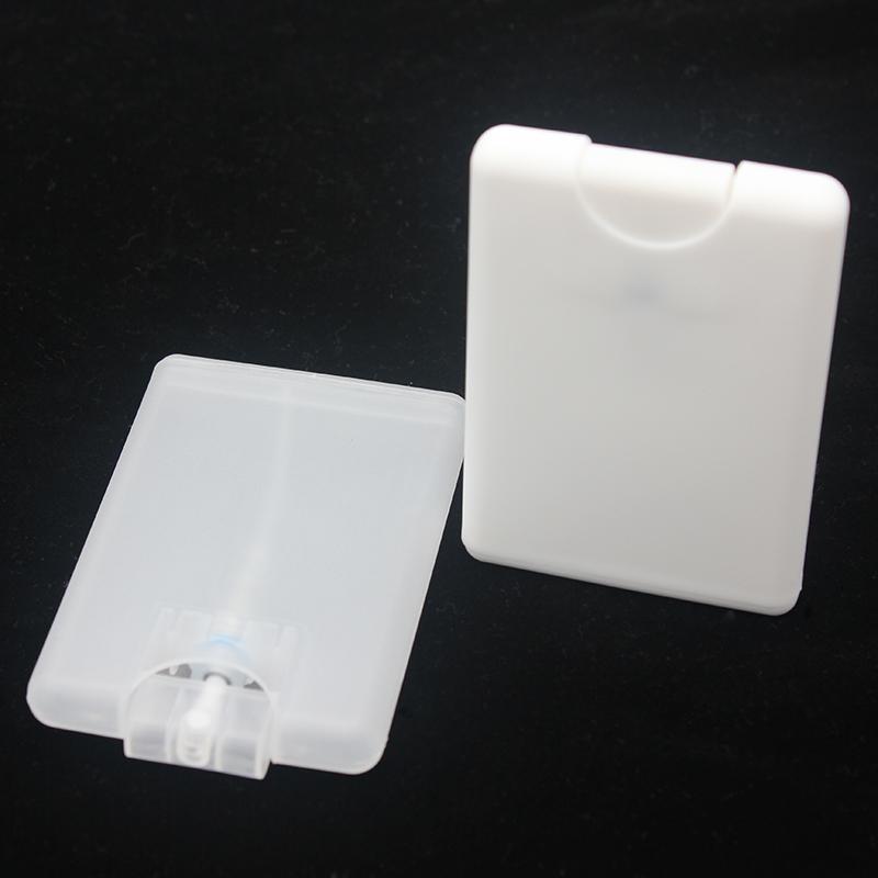 Bouteilles de pulvérisation de parfum de parfum de carte en gros 20ml PP plastique vides de conteneur cosmétique en plastique rechargeable bouteille de parfum