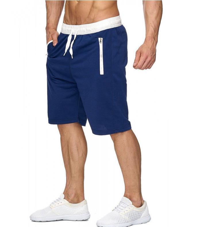 Fashion-Hot Sale Style Mens Beach Pants Casual Large Size Cotton Drawstring Shorts 5 Cents Sport Pants