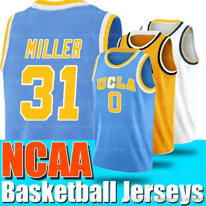 Kaliforniya Kolej Basketbol Formalar NCAA UCLA 0 Russell Jersey Westbrook 31 Reggie Formalar Miller Üniversitesi