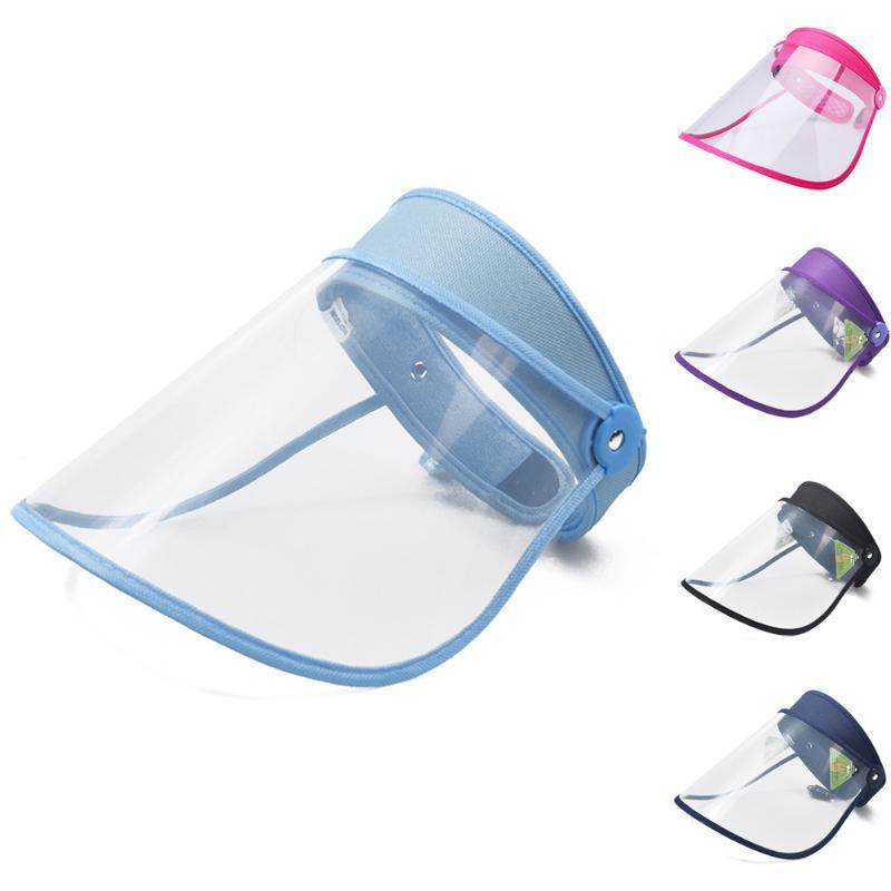 Réutilisable Full Face Shield couverture transparente anti Droplet clair Masque de cuisson Splash en plastique souple respirateurs double face Film Ju9