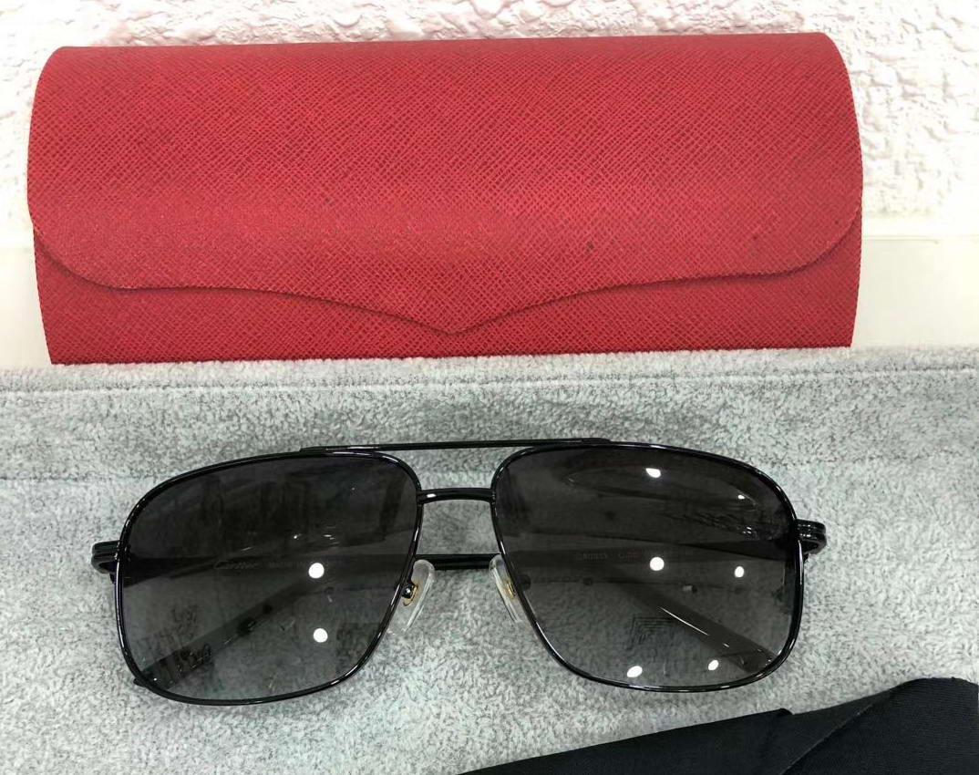 Enfriar marco de las gafas de sol de metal Piloto Negro Grey Shaded gafa de sol sombras de los hombres gafas de sol de nuevo con la caja