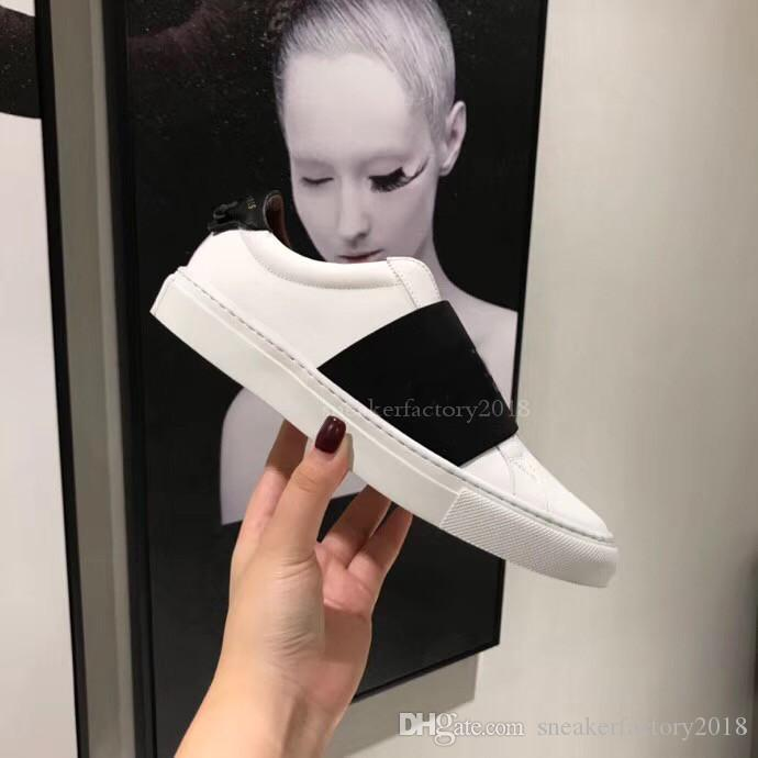 Luxury Designer Hommes Femmes Sneaker Chaussures Casual Low Top Italie Marque Stripes Chaussures Marcher Sports Baskets Chaussures pour Hommes