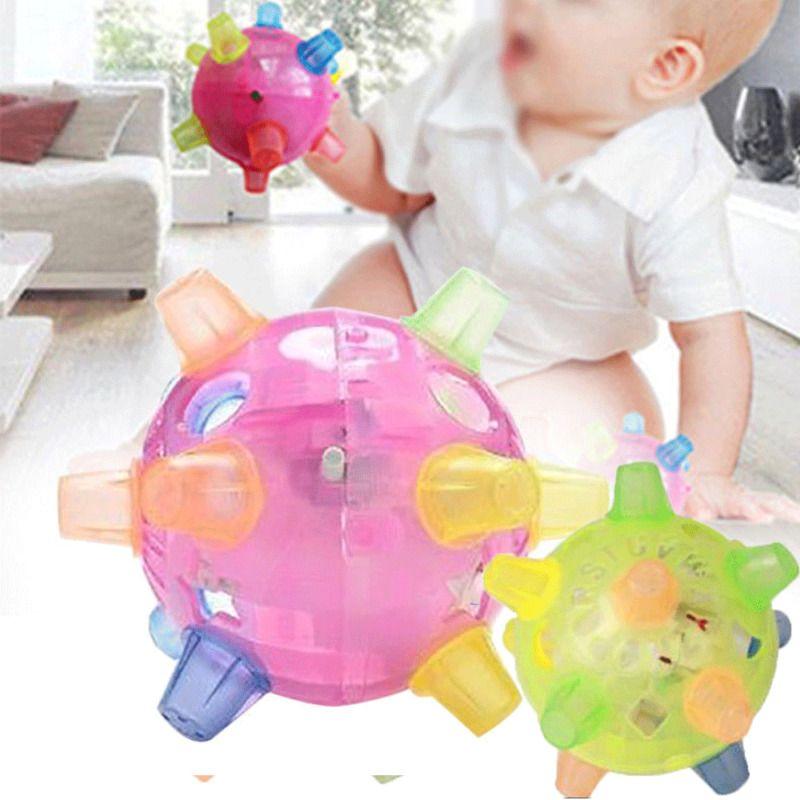 Nuova personalità creativa di salto di attivazione della sfera del LED illumina in su infiammante di musica Bouncing vibranti sfera Giocattoli Ballando sfera Giocattoli