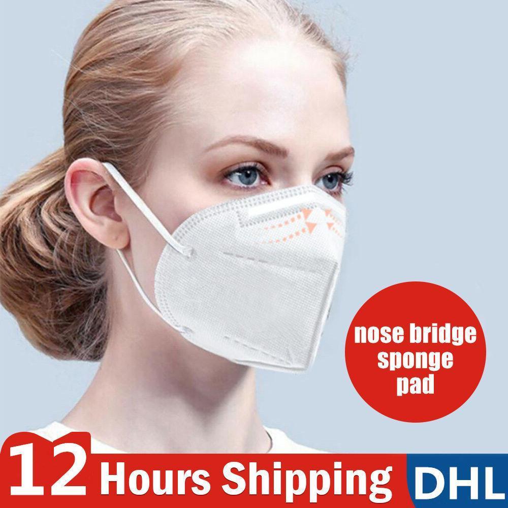 Maschere DHL libera la nave PM2.5 non tessuto monouso pieghevole maschera di maschere antipolvere in tessuto antivento respiratore Anti-Fog esterno antipolvere