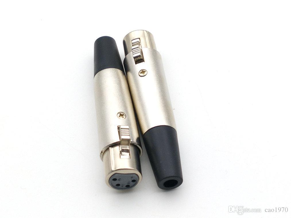 XLR 4 핀 여성 전원 커넥터 소켓