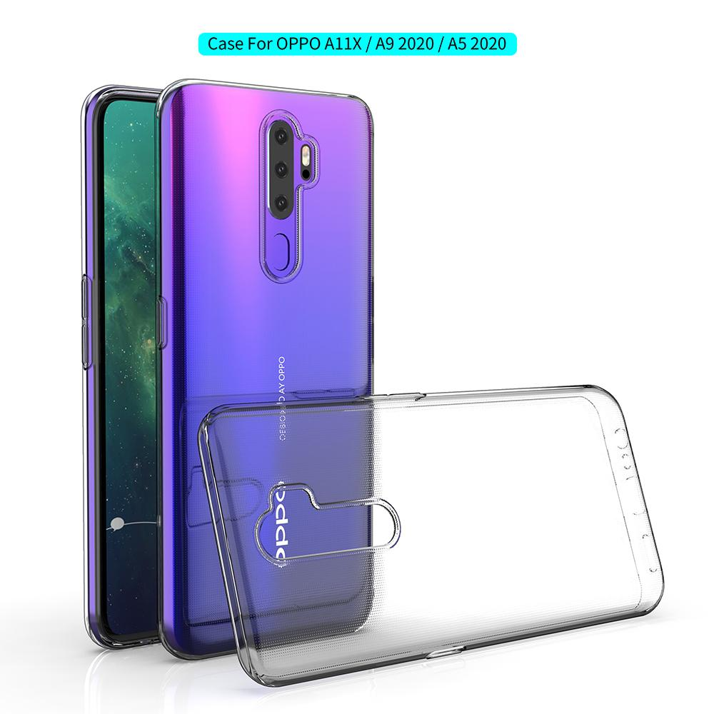 Ultra Thin Slim Clear Soft TPU Phone Case Cover For oppo A9 A5 2020 A11X Realme X X2 Pro XT 5
