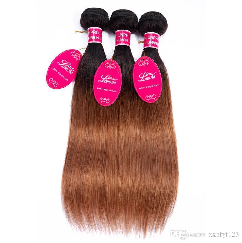 TB / 30 cabelos longos OMBRE Bulks de cabelo humano pacotes Brasileiro Weave Bundles FZP221