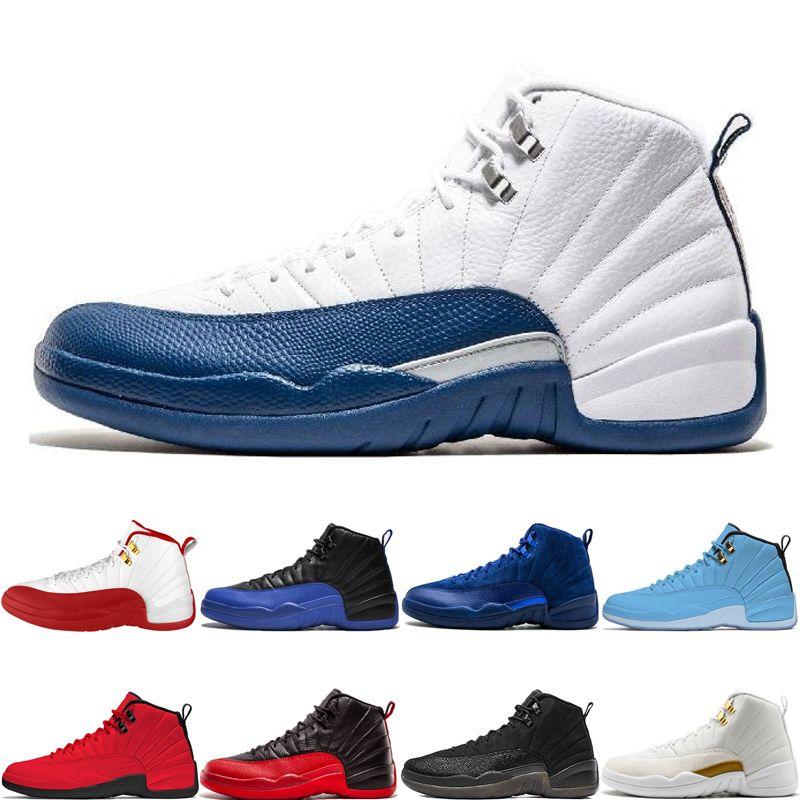 Yeni Gelmesi 12 12 s Basketbol Ayakkabıları FIBA Oyunu Kraliyet fransız mavi Derin Kraliyet Mavi Boğalar UNC Grip Oyunu o-siyah Mens Spor Sneakers