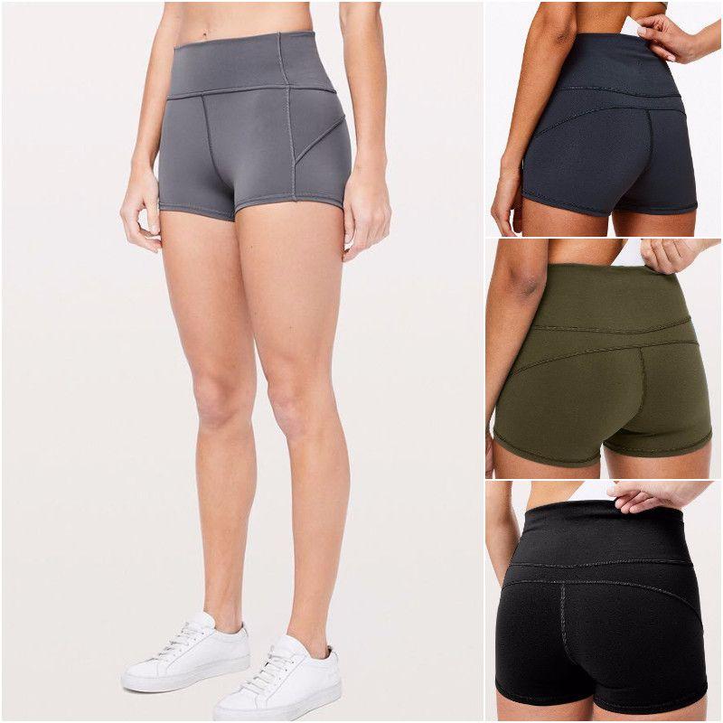 LU-50 Yoga Kısa Pantolon Bayan Yaz Şort Bayanlar Yoga Kıyafetler Yetişkin Spor Kız Egzersiz Fitnes Giyim 4 Renkler Koşu
