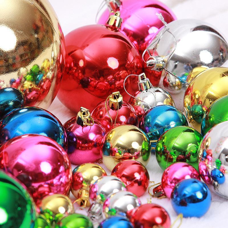 24 шт. / упак. Xmas Рождественский бал украшения рождественские украшения елочные шары украшения партии поставки