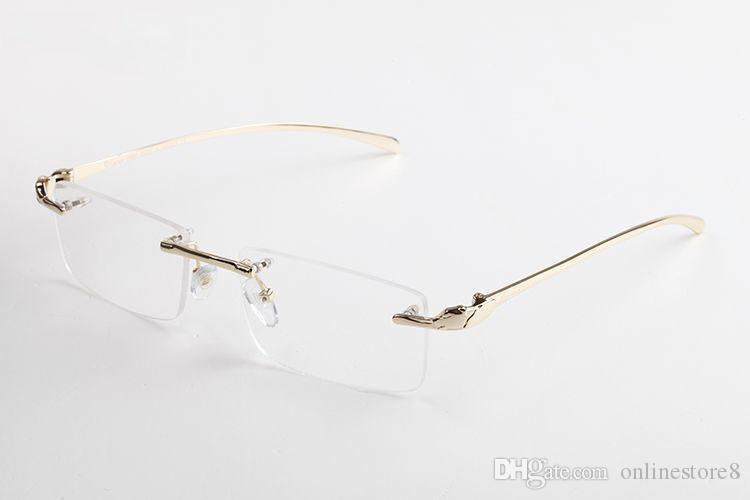 أزياء سبائك ليوبارد الجاموس القرن النظارات البصرية نظارات الصيف أنماط رجل مصمم النظارات للرجال والنساء عدسة واضحة مع المربع الأصلي