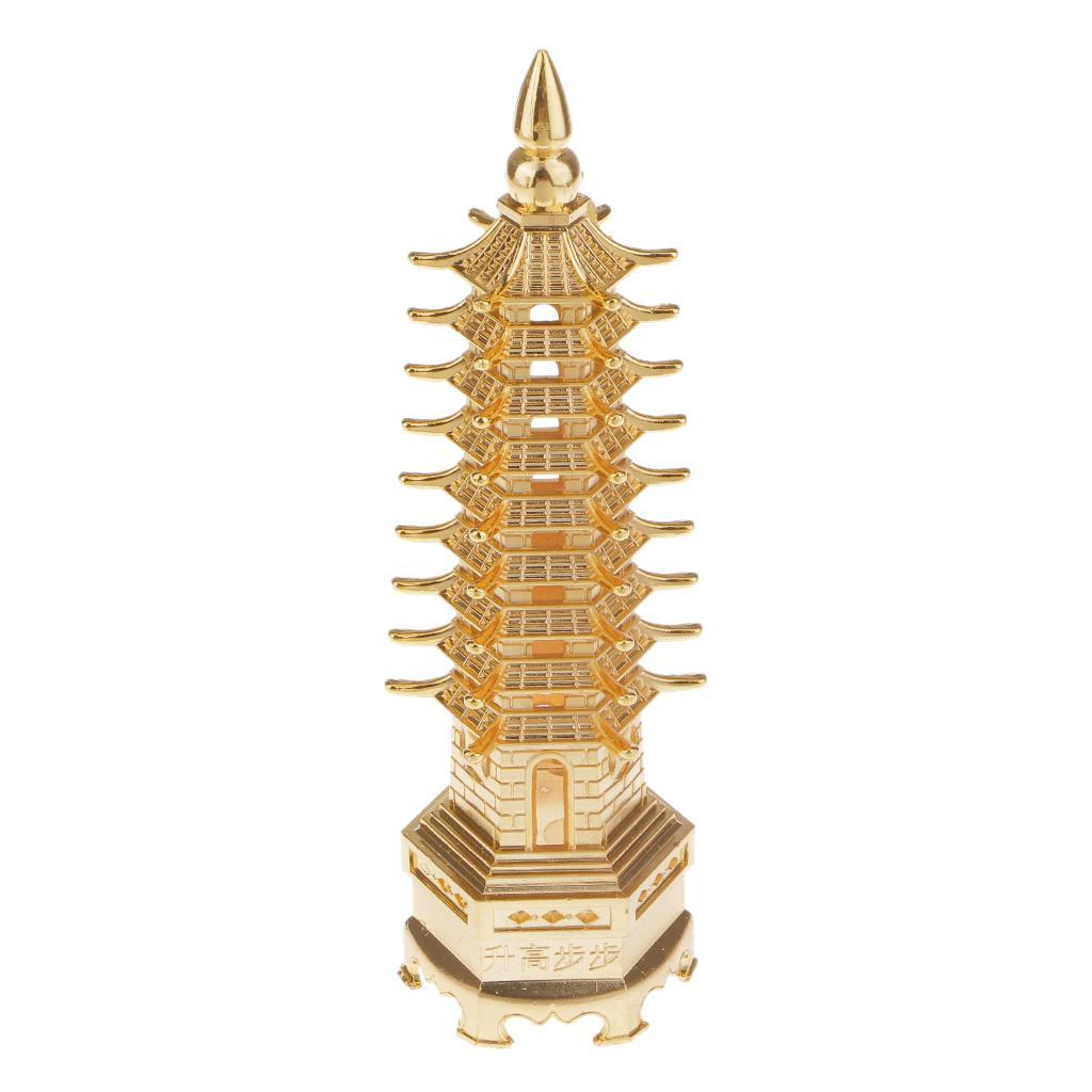 오래 된 중국 불교 사원 문창 부처님의 해골 탑 파고다 타워 골드