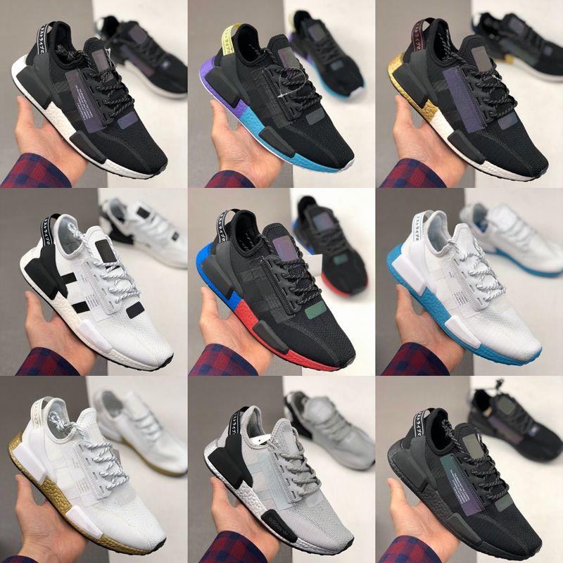 NMD R1 V2 ayakkabı Aqua Çekirdek Siyah OG Altın Metalik Beyaz Oreo Stealthy kadın erkek Nefes eğitmenler Spor Sneakers boyutu 36-45 çalışan