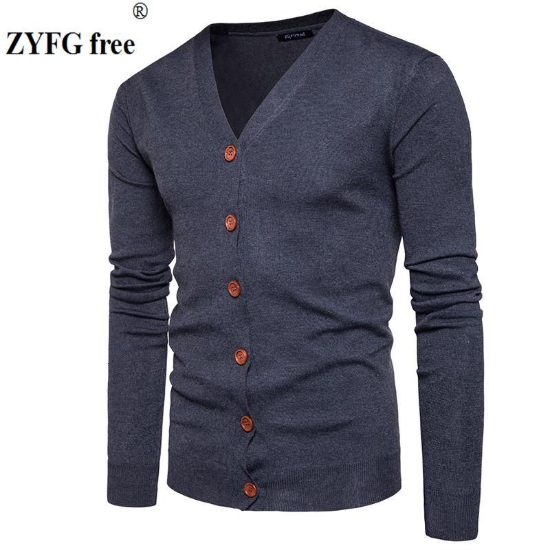 Hombres Botón chaquetas de punto suéteres SH190930 tamaño de 2.019 nuevos hombres casuales suéter de cuello V sólido grueso suéter de cachemira prendas de vestir exteriores de la UE / EE.UU.