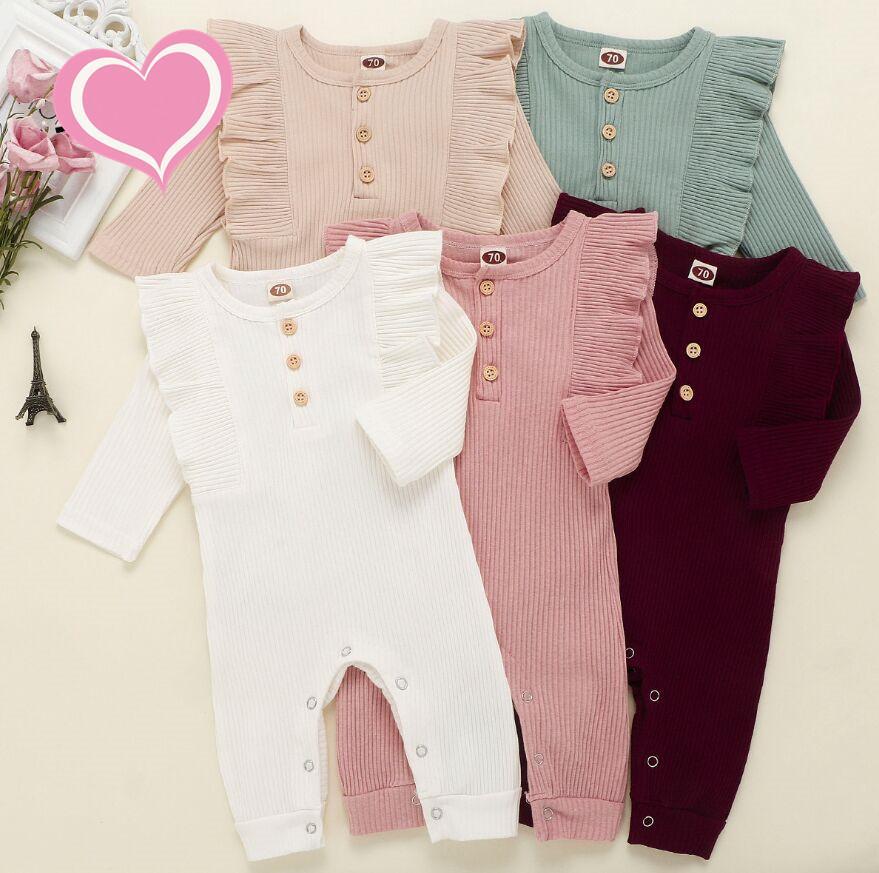 2020 Baby Jungen gestreifte Strampler Infant Streifen Jumpsuits Herbst Boutique Kinder strickten warme Onesies Outfits Kinder Kletterkleidung